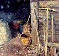 Бугаев А. «Деревенский двор». 1990, к., м., 40х50