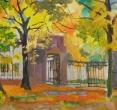 Чичурина А. «Горела осень». 2009, к., м., 37х54