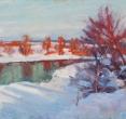 Гринин Е. «Зима». 2009, масло, 60х80