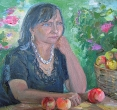 Складановская Г. «Раздумья моей мамы». 2013, х., м., 50х60